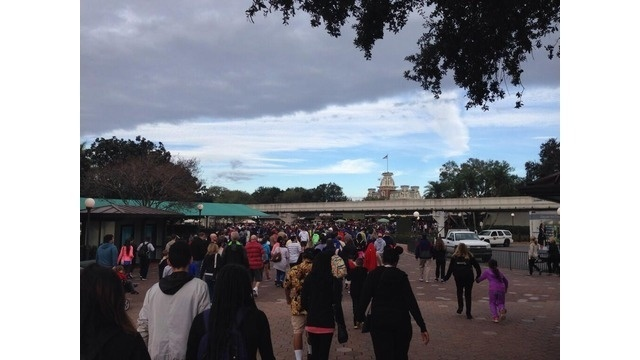 Line at Magic Kingdom
