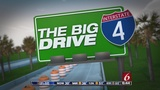 I-4 at OBT exit shifting for Big Drive project