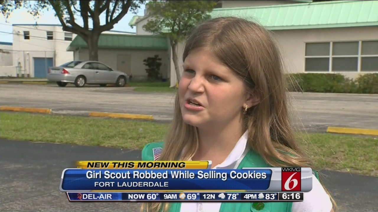 girl scout robbed outside florida grocery store