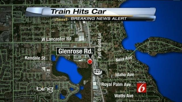 train hits car map