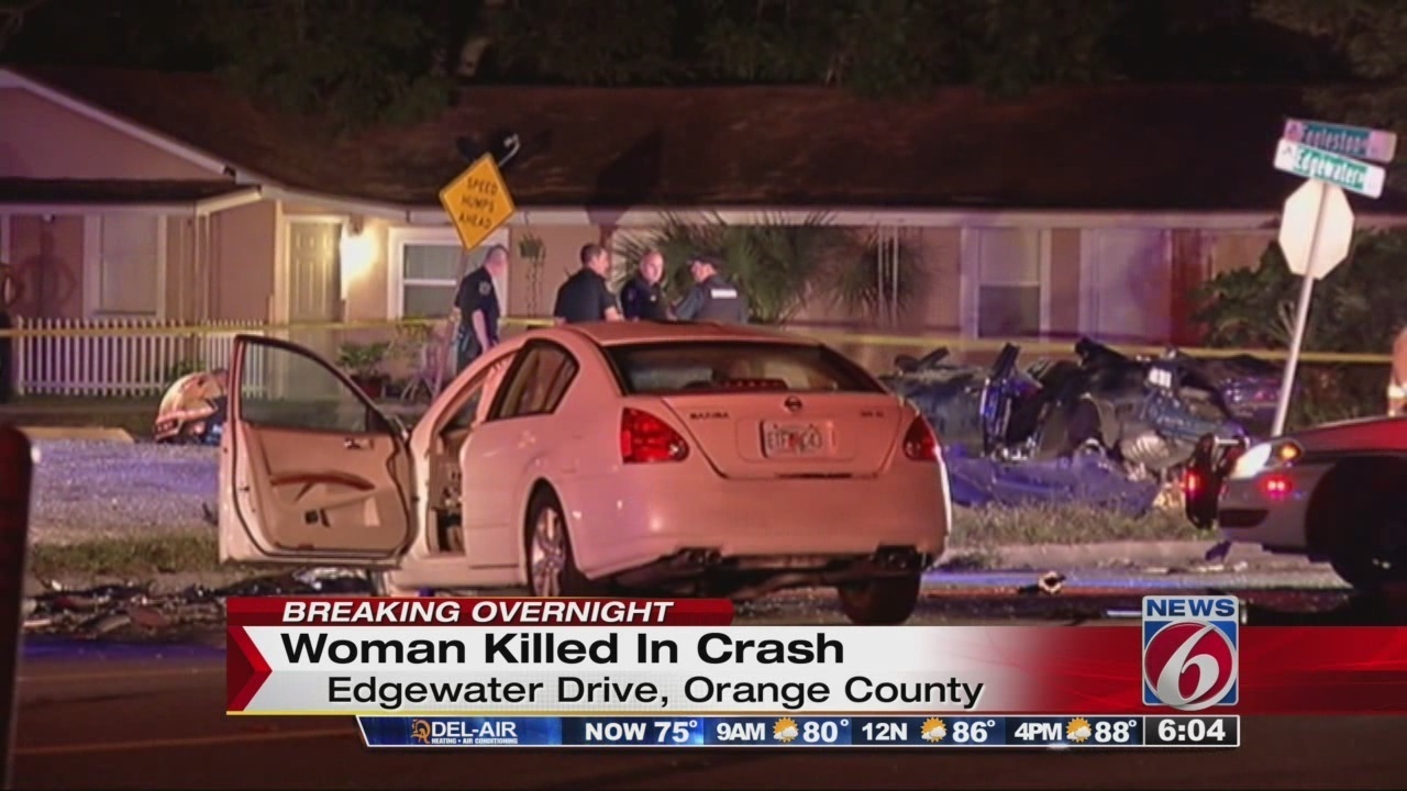 Woman Killed 2 Injured In Orlando Crash