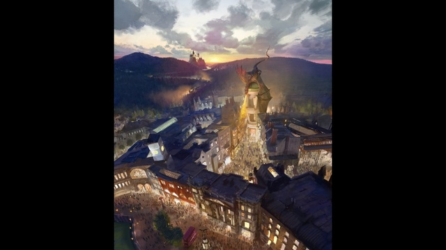 Diagon Alley Rendering