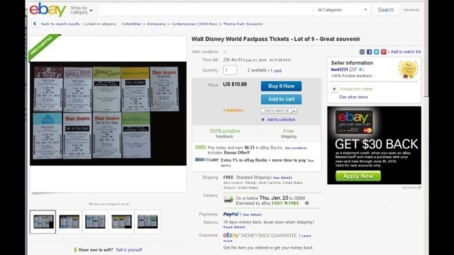 fastpass ebay