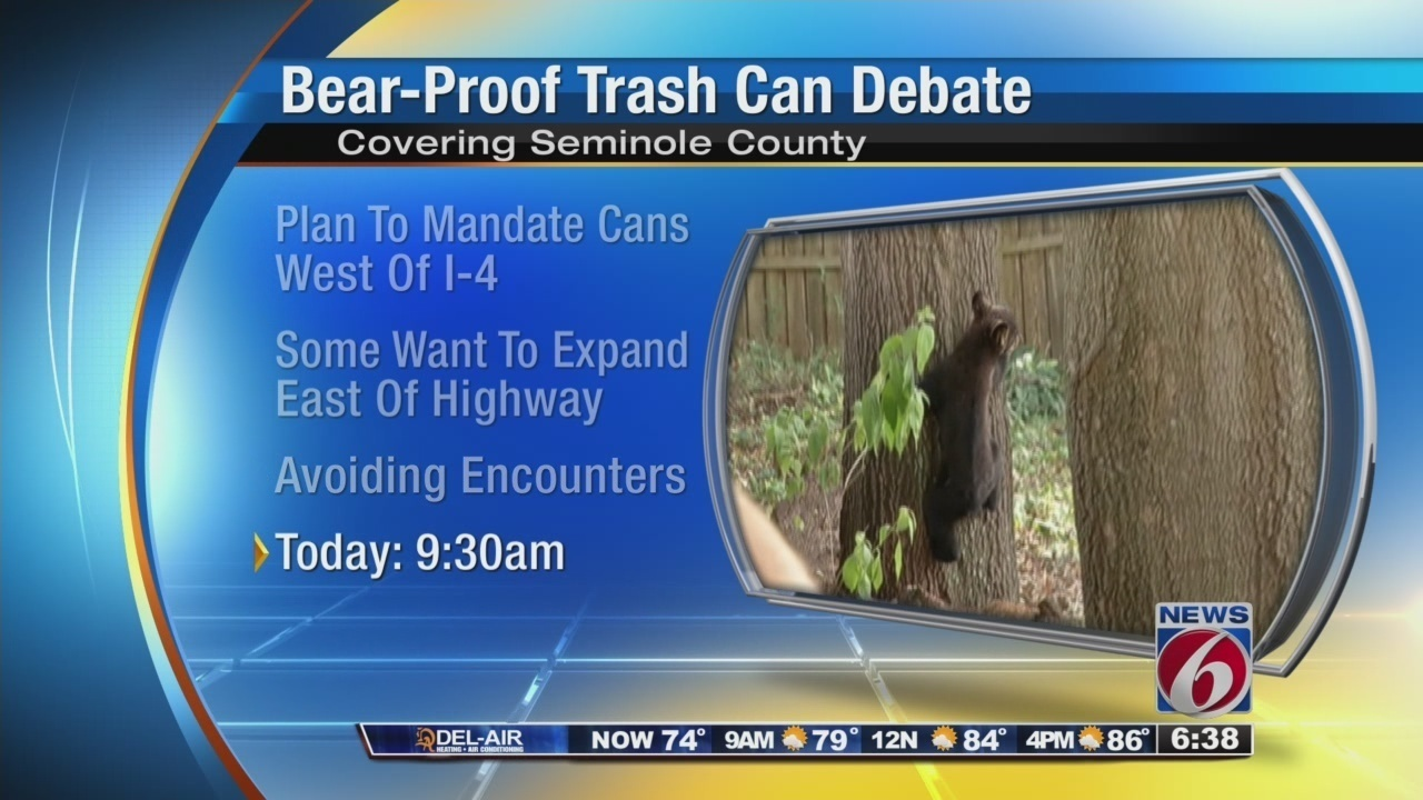 Seminole County Leaders To Discuss Bear Proof Trash Cans