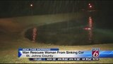 Woman on test drive rescued from sinking car in Florida