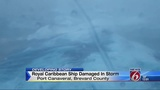 Storm that shortened Royal Caribbean cruise damaged ship