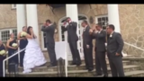 Local groom lip syncs wedding vows