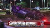 3 injured when car overturns in crash on Orange Blossom Trail