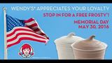 Wendy's offering free Frosty for Customer Appreciation Day