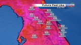 Feels-like temperatures into the triple digits in Central Florida