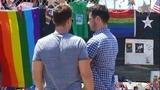 Raw video: Lance Bass, Michael Turchin visit Pulse