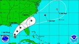 New track keeps system heading to Florida as tropical storm
