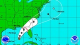 New track shows path of tropical depression moving slightly north