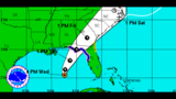 New track shows Tropical Storm Hermine strengthening, shifting to west
