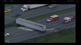 I-95 reopens after jackknifed semi spills fuel on roadway
