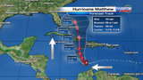 Hurricane Matthew forecast to track near Florida