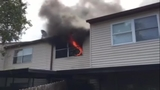 Fire damages Titusville townhome