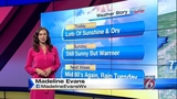 Saturday weather forecast with Madeline Evans