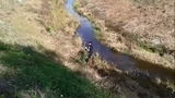 Raw video: Officer rescues boy from canal
