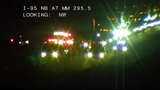 Crash on southbound I-95 south of US 1 blocks traffic