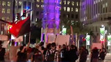 Anti-Trump protesters walk through downtown Orlando on Inauguration Day