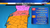 News 6 Meteorologist Madeline Evans pinpoints severe weather county by county