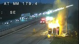 Big rig fire closes I-95 in Brevard