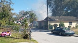 Fire crews fighting house fire in Eatonville
