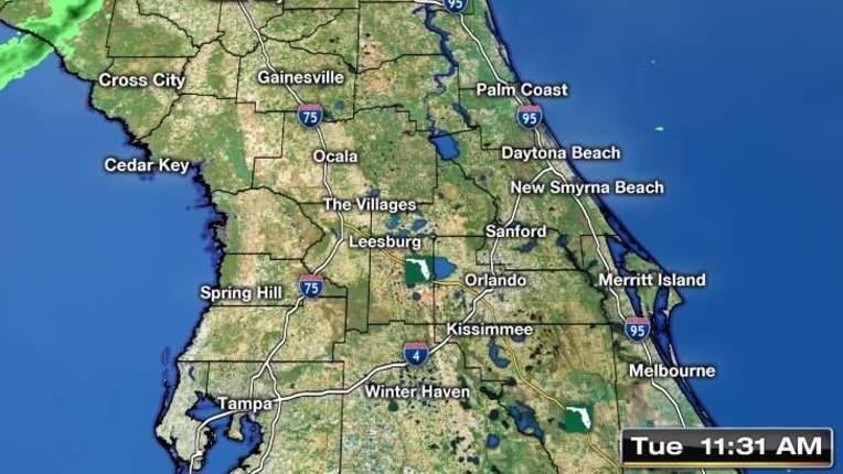 Animated Radar For Daytona Beach Florida