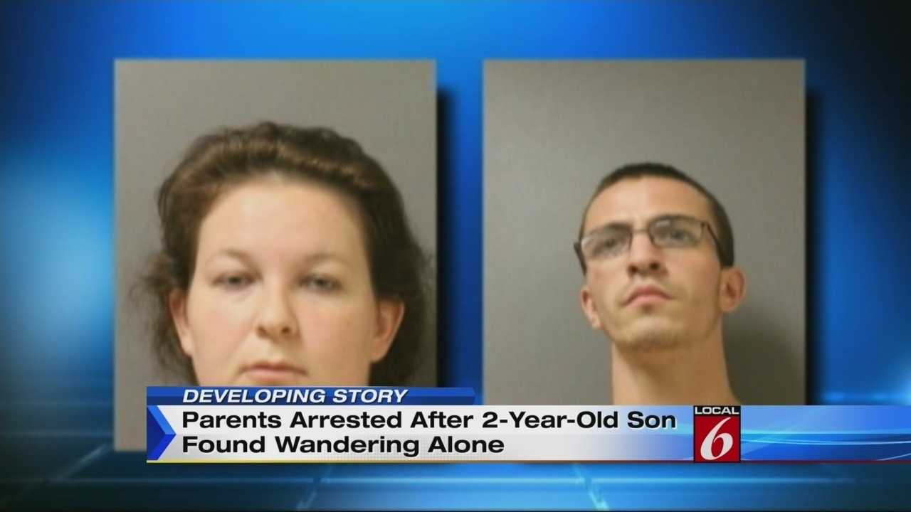 Tennessee parents charged after toddler found wandering