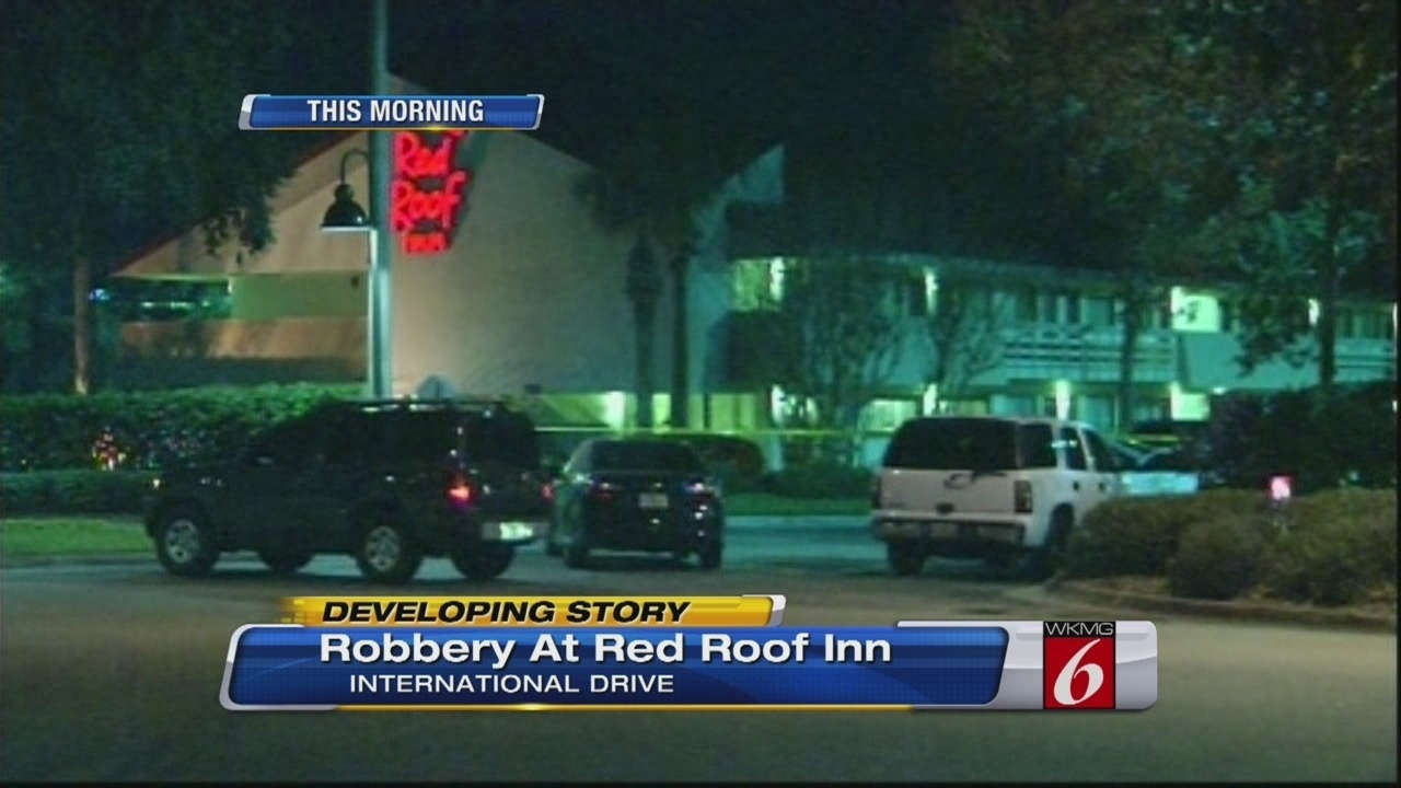 3 Armed Men Rob Red Roof Inn On International Drive (1 23 14)