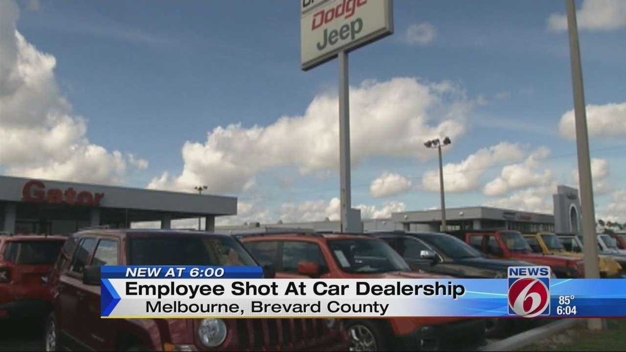 Brevard dealership worker shot in back