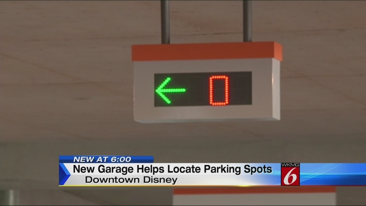 new garage at downtown disney helps find parking spots