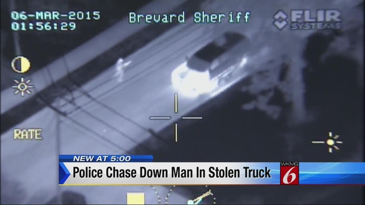 Titusville Police Chase Down Man In Stolen Truck