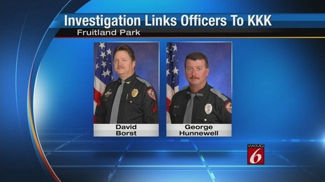 6:00p Investigation links officers to KKK