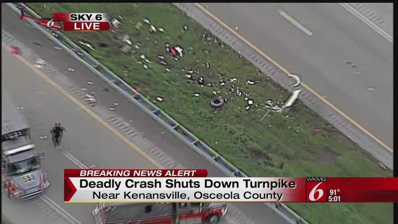 All lanes reopened following crashes on Turnpike, I-4
