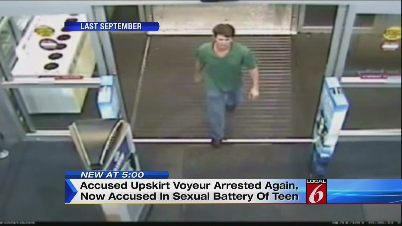 Video thumbnail for Accused video voyeur arrested again
