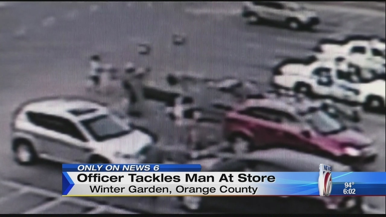 winter garden police officer tackles man who threatened to