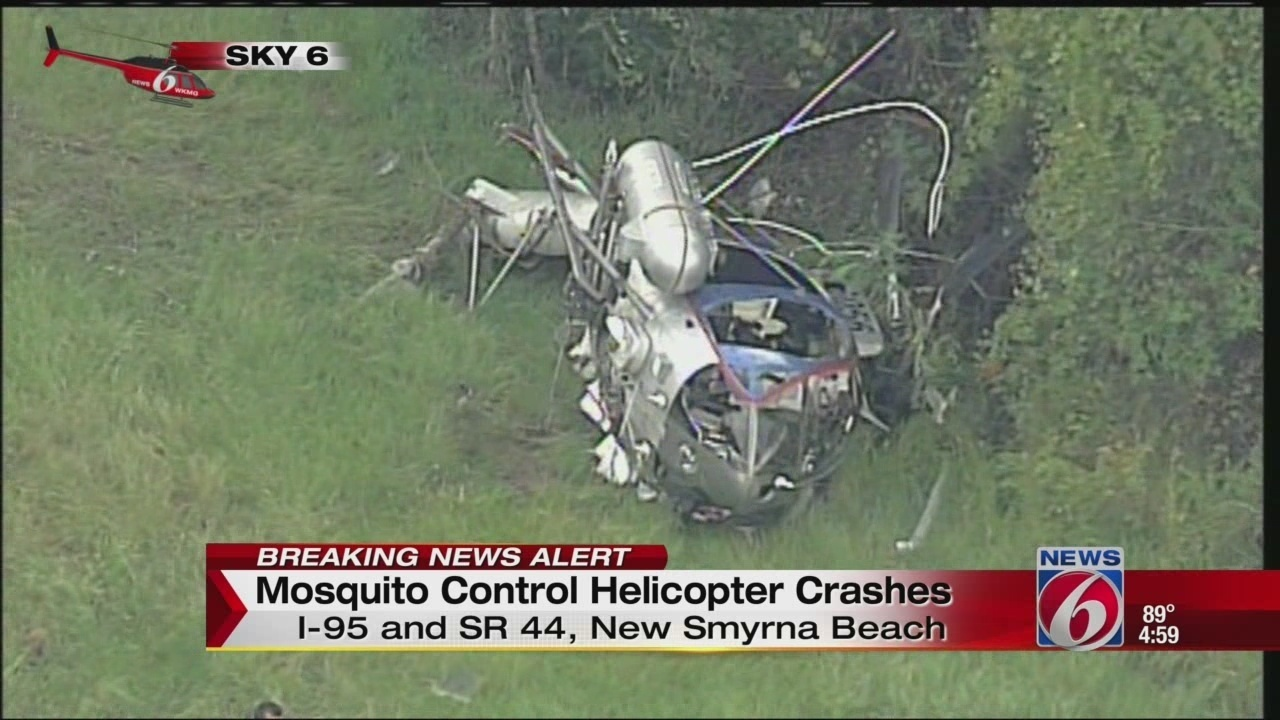 Mosquito control helicopter crashes in Volusia County woods