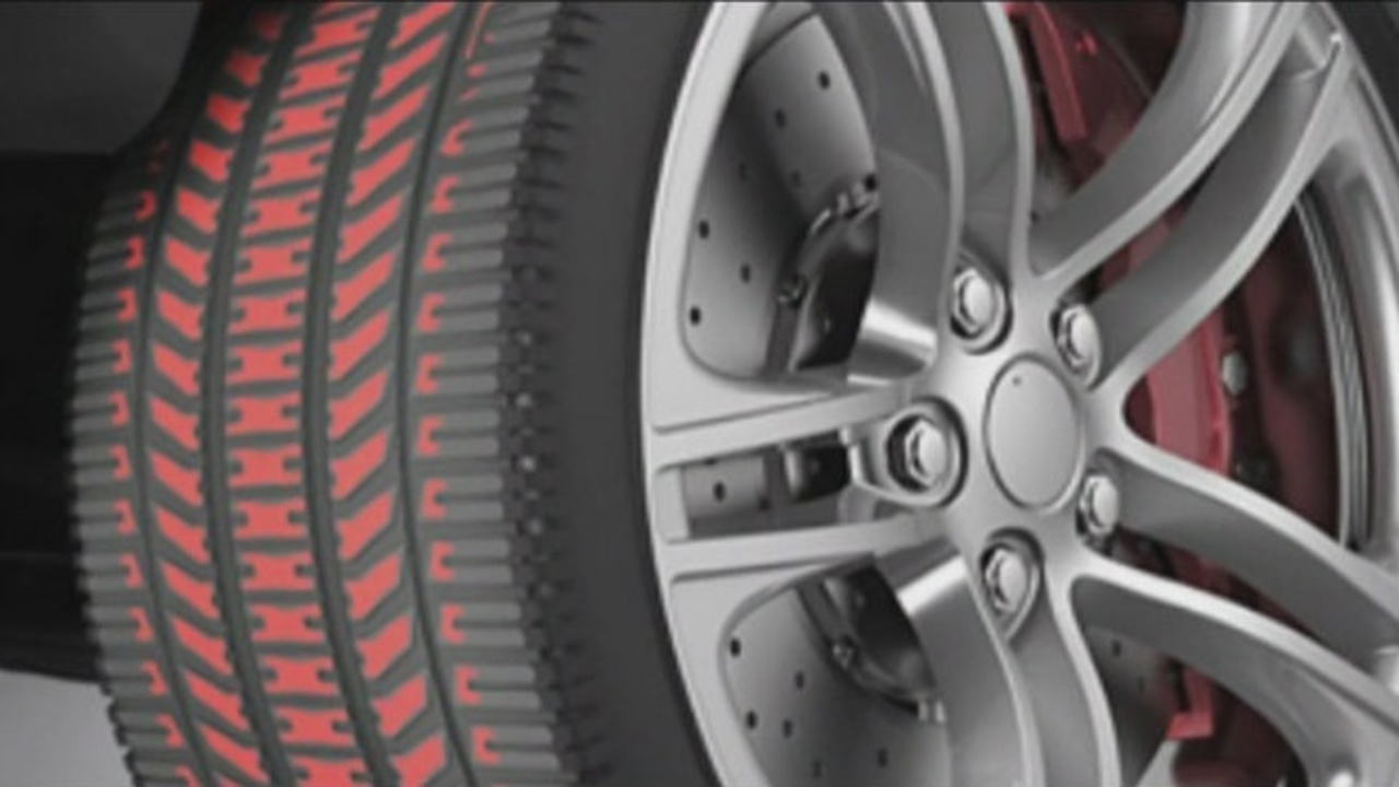 Colored tires make wear, tear easier to spot