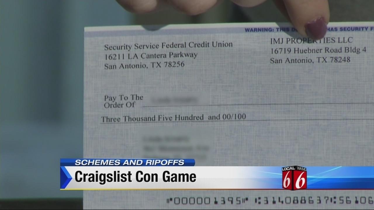schemes and ripoffs craigslist scam