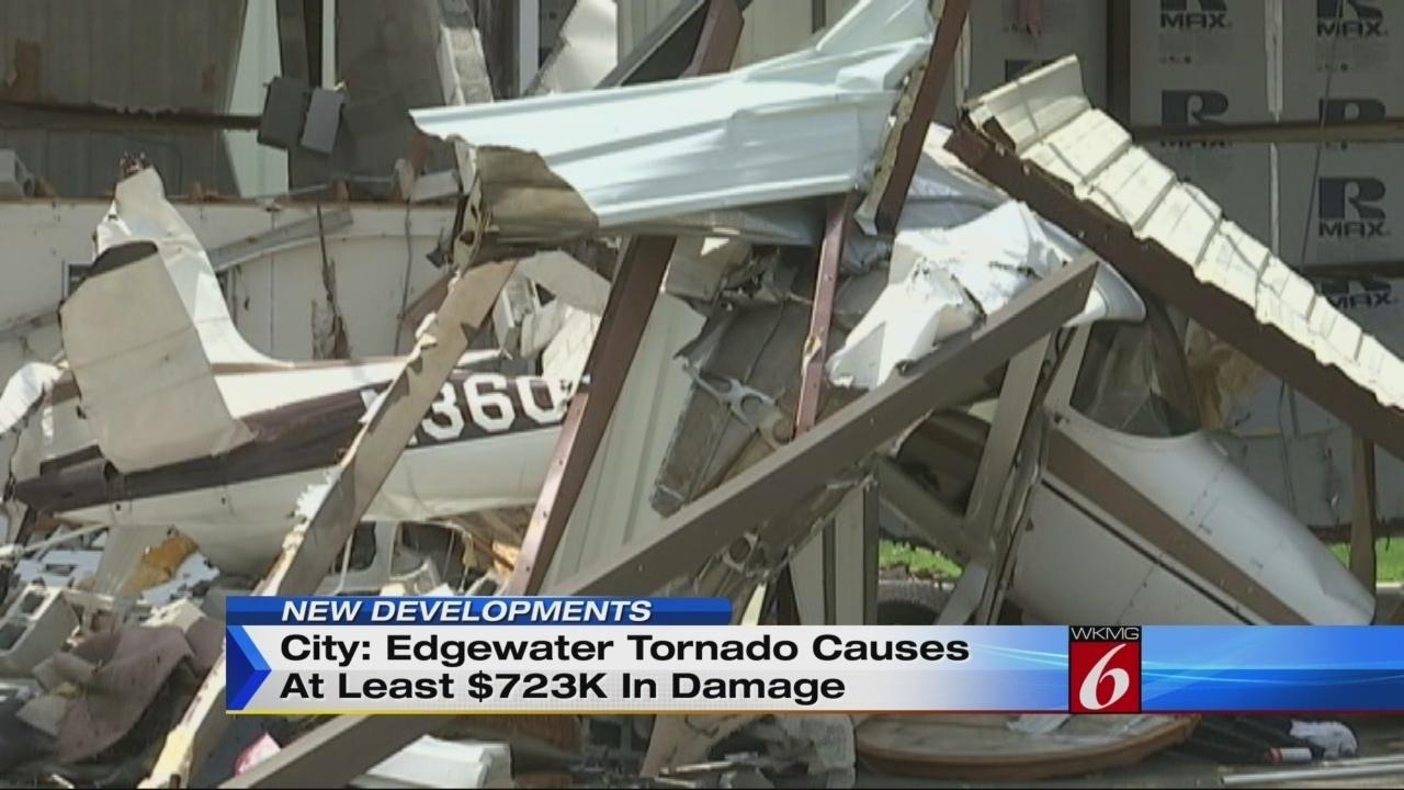 Man details tornado experience in Edgewater airport hangar