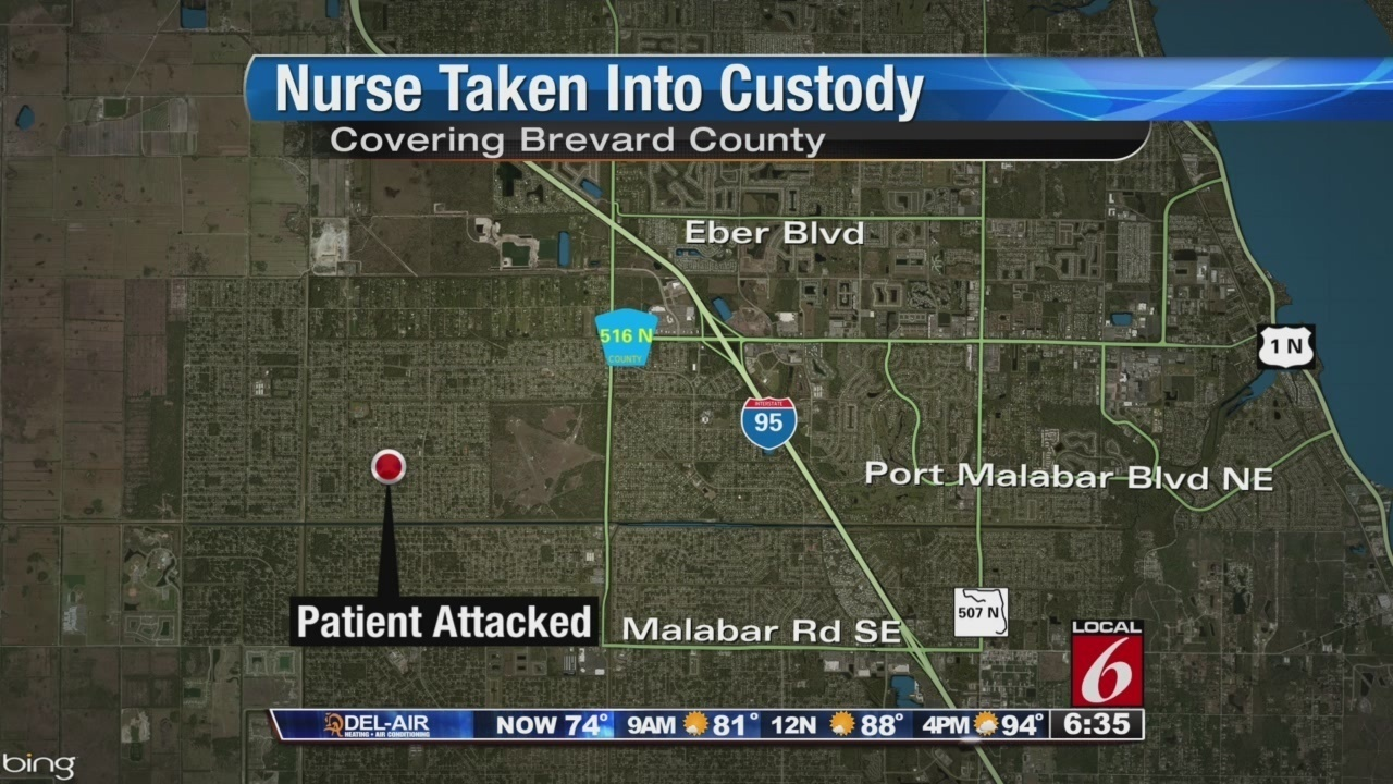 Naked nurse accused of attacking patient in Brevard - YouTube