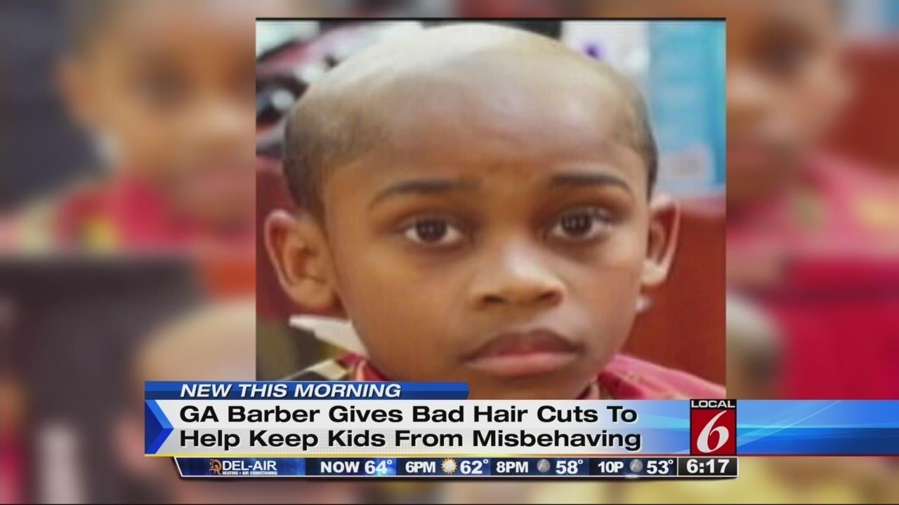 Barber Gives Bad Haircuts To Create Good Behavior