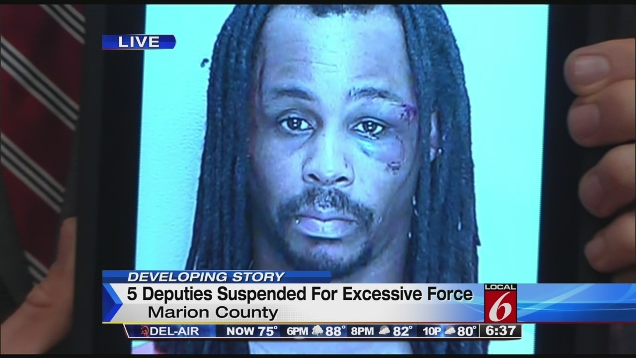5 marion county deputies suspended for excessive use of force