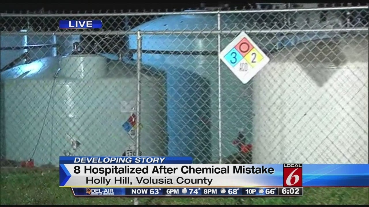 8 hospitalized from toxic vapor at volusia pool supply store for Florida pool show 2015