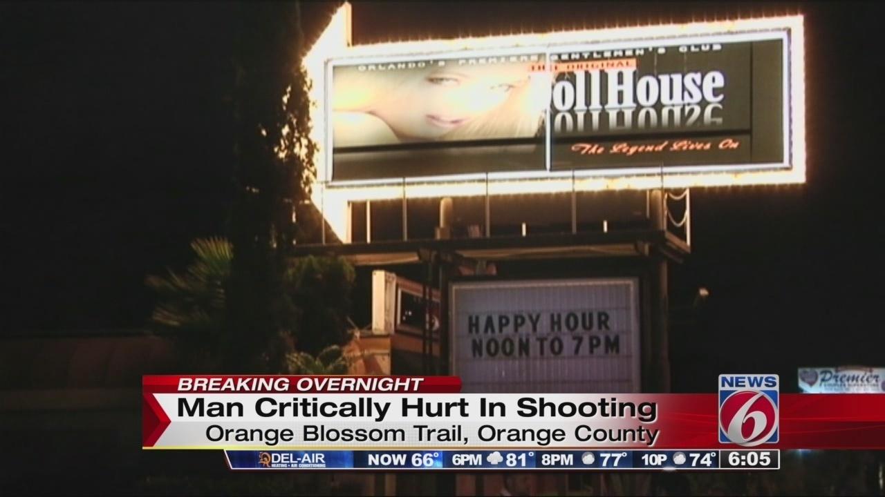 1 Shot Critically Injured Outside Orlando Strip Club