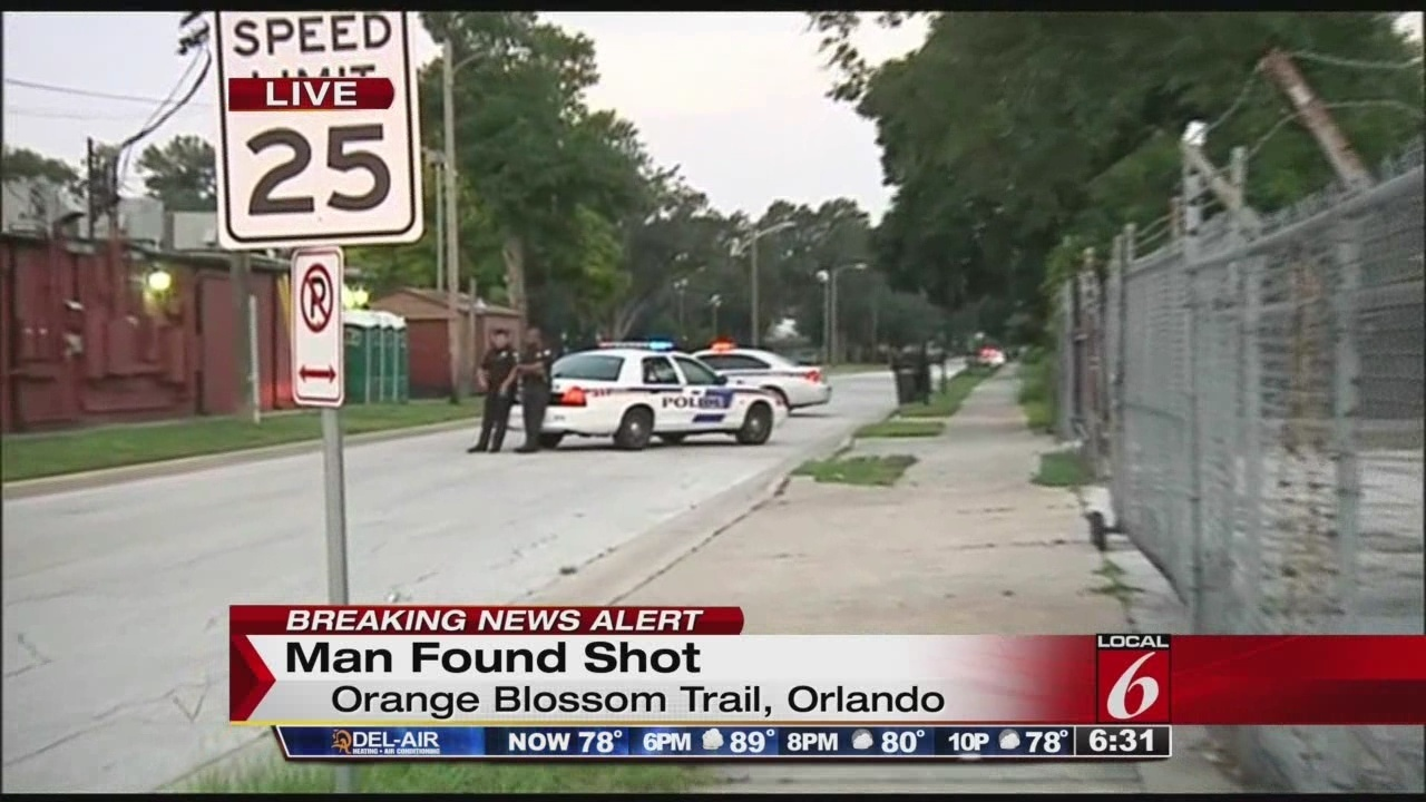 Man found shot on orlando sidewalk for Fish camp lake eustis