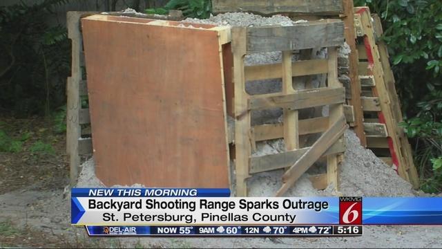 Backyard Shooting Range shooting range in florida backyard irks neighbors