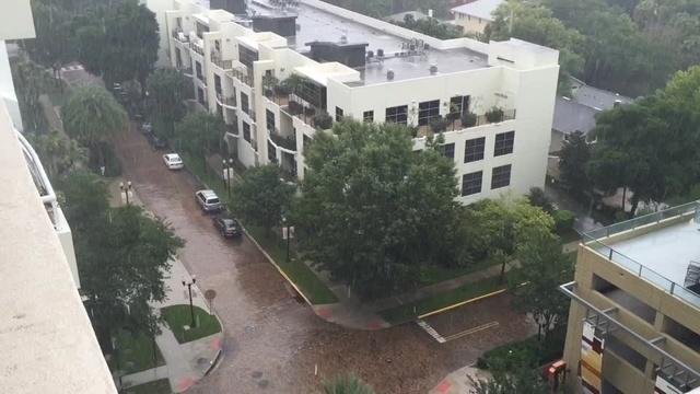 Rain falls in Central Florida